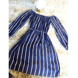Forever 21 Off the Shoulder Striped Dress